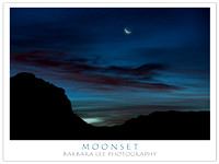 Moonset - Zion National Park