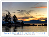 Sand Harbor Sunset, Lake Tahoe