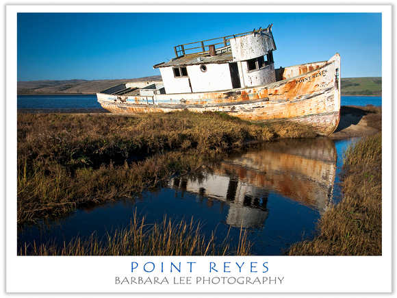 Fishing Trawler Point Reyes - Beached in Tomales Bay in Inverness, California More Than 20 Years Ago