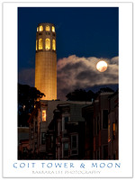 Coit Tower and Moon